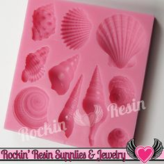 Ocean SEASHELLS SILICONE MOLD Food Grade Flexible