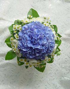 Blue Hydrangea 藍繡球+小牡丹 (fafaworld)