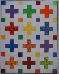 Double Nickel Quilts: Crosses and Dots quilt done!