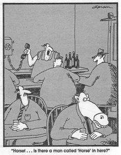 """The Far Side"" by Gary Larson. Cartoon Jokes, Funny Cartoons, Funny Comics, Far Side Cartoons, Far Side Comics, Really Funny Pictures, Funny Animal Pictures, Funny Posts, Humor"