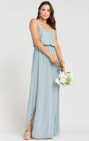 Kendall Maxi Dress ~ Silver Sage Crisp