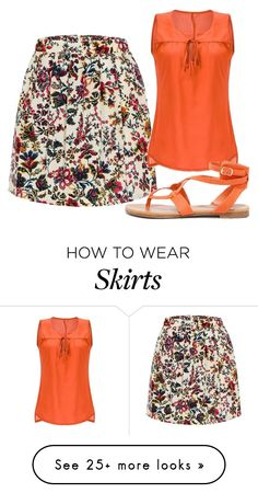 """High Waisted Skater Skirt"" by sillycatgrl on Polyvore featuring Breckelle's"