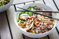 The sesame almond zoodle bowl is the perfect vehicle for this amazing sauce.  Peanut sauce has been one of my favorite dipping and drizzling sauces for everything from low carb egg rolls to an overflowing bowl of stir fry veggies. Sadly, I've recently begun reducing my peanut intake. I've been focusing on more recipes that …