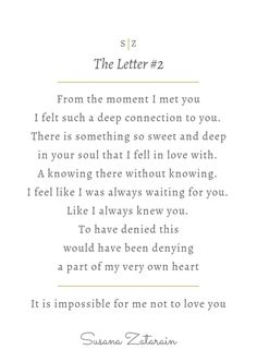 Love letters written between lovers and soul mates. To read more love letters, go to https://itsmypleasure.com.au