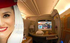 Seoul to Dubai - Travel in first-class Airbus A380 - EMIRATES - Watch http://youtu.be/Vdrj82u_apE #Dubai #Emirates #AirbusA380 #A380 #NoMundo