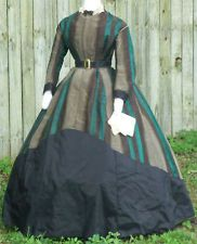 ORIGINAL CIVIL WAR ERA GOWN FOR STUDY c.1865