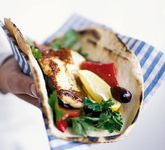 Roasted pepper and halloumi wraps: For some fast finger food, roll up some roasted pepper and halloumi wraps