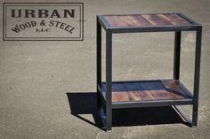 Industrial End Table van urbanwoodandsteel op Etsy