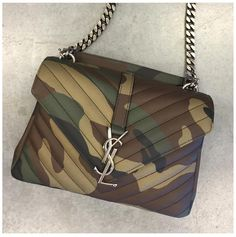 ae36602849 Saint Laurent Paris College Medium Camouflage Camo Bag