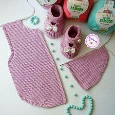 """diy_crafts- Pink Vest for Babies """"Volkan - infant vest not hard to figure out what the notes mean check out the variations -buttons, pompom ties, Knit Baby Dress, Knitted Baby Clothes, Knitted Baby Blankets, Knitted Bags, Crochet Clothes, Intarsia Knitting, Baby Knitting, Crochet Baby, Knitting Club"""