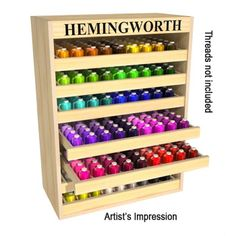 Thread Storage Cabinet by Hemingworth - deposit only - if only it came filled up!