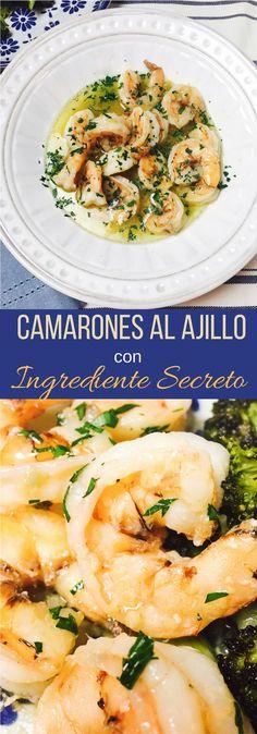 Receta de Camarones al Ajillo con ingrediente secreto. Tienes que probarla!!!!!!!