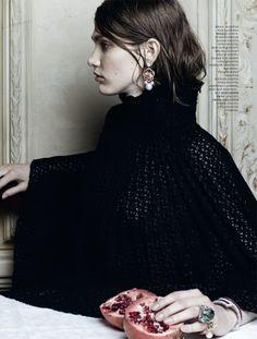 nouvelle-nouveau:  Irina Nikolaeva by Natalia Alaverdian for Harper's Bazaar Russia May 2012