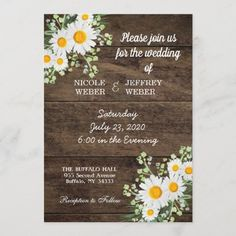 Rustic Wedding Flowers, Spring Wedding Flowers, Wedding Colors, Wedding Bouquets, Daisy Wedding Decorations, Anniversary Decorations, Spring Weddings, Wedding Anniversary, Floral Wedding
