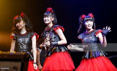 Yuimetal, Su-metal and Moametal of Babymetal win Breakthrough Award at the Metal Hammer Golden Gods awards on June 15, 2015 in London, England.