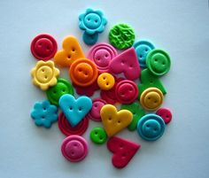 Buttons made with FIMO - things to do with lil kids