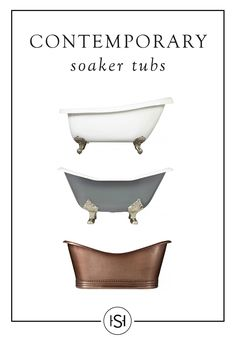The perfect bathtub will bring elegance and sophistication to a classically designed bathroom. Add a Signature Hardware freestanding tub in copper, nickel, or stainless steel, to your master suite to create a wonderfully serene atmosphere. Bathroom Renos, Laundry In Bathroom, Master Bathroom, Bathroom Artwork, Bathroom Tubs, Master Baths, Bathroom Remodeling, Bathroom Ideas, Soaker Tub