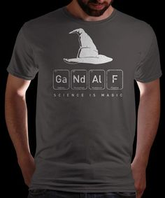 """Gandalf's Magical Science"" on Qwertee : Limited Edition Cheap Daily T Shirts 