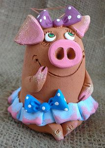 Paper Mache Projects, Clay Projects, Pig Crafts, Clay Crafts, Art For Kids, Crafts For Kids, Pig Art, Animal Cakes, Clay Animals
