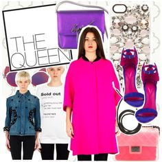 1155. THE QUEEN Total Look by marymary91 on Polyvore featuring moda, Design Inverso, Anna K, Oscar Tiye, Linda Farrow and thequeenstore