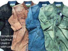 Cargo Shirts, Jean Shirts, Boys Shirts, Denim Shirt, Acid Wash Shirt, Star Clothing, Denim Ideas, Dye Shirt, Vintage Shirts