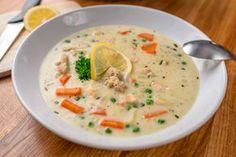 Tárkonyos csirkeragu leves recept