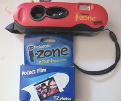 Came across my old Polaroid i-zone camera and a box of film. I bought this camera in 1999. I wish they still sold film to fit this camera as it would be great to add little photos to journals and Smash books. The unused film I had unfortunately was no good. :-(