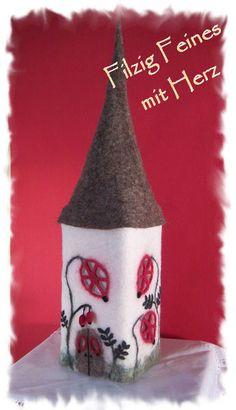 """Filzlampe """"Herbstleuchten"""", Lampe Filz, gefilzt von Filzallerlei - Filzig Feines mit Herz auf DaWanda.com"""