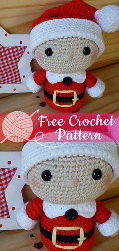 Mesmerizing Crochet an Amigurumi Rabbit Ideas. Lovely Crochet an Amigurumi Rabbit Ideas. Crochet Diy, Crochet Santa, Crochet Gratis, Christmas Crochet Patterns, Crochet Amigurumi, Holiday Crochet, Afghan Crochet Patterns, Crochet Dolls, Knitting Patterns Free