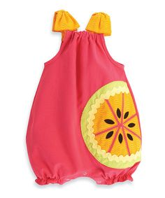 Another great find on #zulily! Pink Tutti-Frutti Bubble Romper - Infant by Mud Pie #zulilyfinds