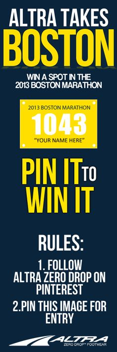 Win a spot at the 2013 Boston Marathon! Find out the 5 different ways to win here.