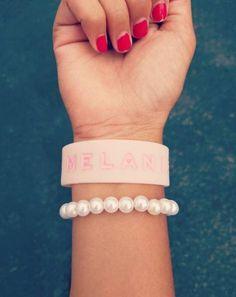 A little bit of sugar // Melanie Martinez Pink Rubber Bracelet