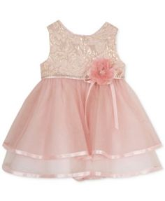 Rare Editions Baby Girls' Brocade-Top Dress   macys.com