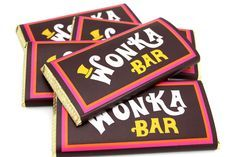 Wonka Bar 10th Birthday invitation printing template Free