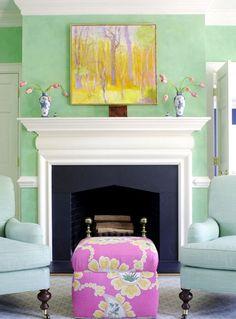sala salon : Un Toque de Color para el Salón