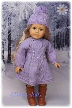 Frosty Day knitted outfit  for American Girl dolls on Etsy, $65.00