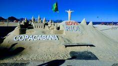 Escultura de areia, Copacabana, Rio de Janeiro