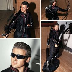 Hot Toys Avengers age of Ultron Hawkeye figure by dimebagsdarrell