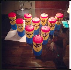 So happy how my Minion Bowling Pins turned out using coffee mate containers! Daycare Crafts, Crafts For Kids, Bowling Pins, Banks, Minions, Recycling, Great Gifts, Container, Craft Ideas