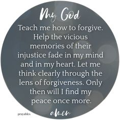 Here's a prayer from Prayables we're calling Teach Me How to Forgive Devotional Quotes, Bible Verses Quotes, Daily Devotional, Faith Quotes, Bible Verses About Forgiveness, Prayer Scriptures, Forgiveness Prayer, Daily Prayer, My Prayer