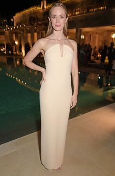 Best Dresses at Cannes Film Festival 2015 | Emily Blunt - Clavin Klein party in Cannes