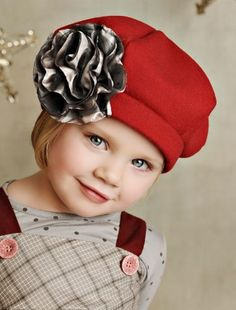 Persnickety Clothing Red Beret   Persnickety Clothing Fall 2012 Jeweled Forest Collection