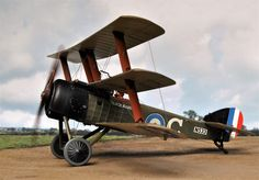 """Preparing """"Black Maria"""" for takeoff http://www.treefrogtreasures.com/c-1798-airplanes.aspx?pagesize=100"""