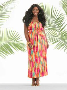 bc003c3da63c2 One of the prettiest maxi dresses I ve seen! Model Philomena Kwao for Ashley  Stewart Summer 2014