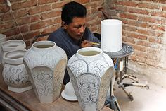Mexican Majolica Pottery for Sale - Majolica Plates, Vases & Ceramics Mexican Furniture, Rustic Furniture, Southwestern Home, Talavera Pottery, Form Design, Tile Murals, Clay Art, Handmade Art, Art Forms