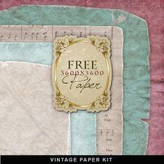Kit de papel vintage Freebies
