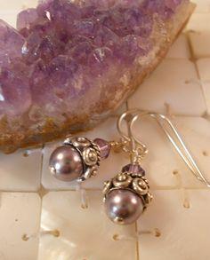 Swarovski Crystal Pearl and Bali Sterling Silver by MagnoliaStudio, $24.00