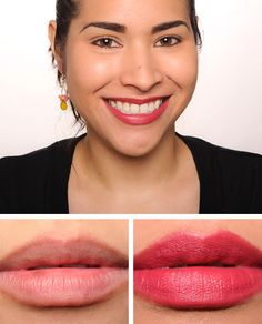 Burberry Rose Pink (307) Lip Velvet ($30.00 for 0.12 oz.) is a slightly warm, deep pink with a matte finish. Tom Ford Indian Rose is much lighter. MAC Spea