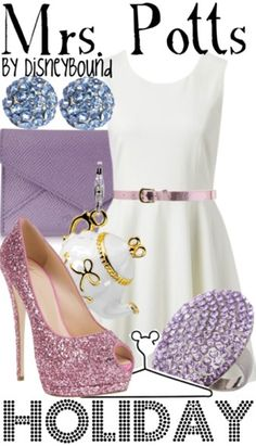 Mrs. Potts by Disney Bound  Fashion Disney Outfit  Beauty and the Beast .......makes me think of my little sister Lauren amber Potts is what she use to call herself as a child so sweet lol