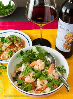 Yes, you can drink red wine with your Brodetto (seafood stew)!